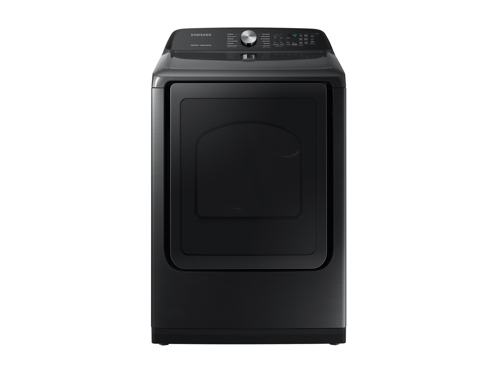 Samsung 7.4 cu. ft. Gas Dryer with Steam Sanitize+ in Black Stainless Steel, Fingerprint Resistant Black Stainless Steel