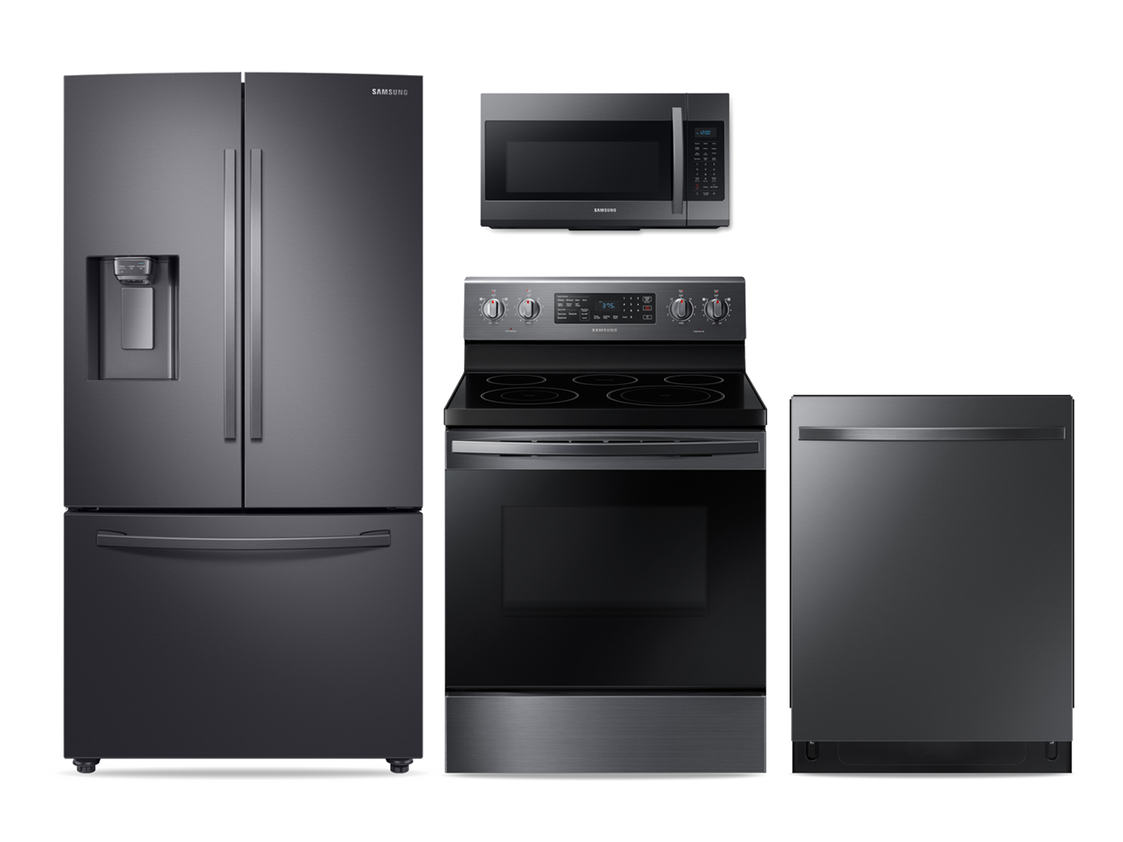 A new kitchen awaits in eye-catching black stainless steel