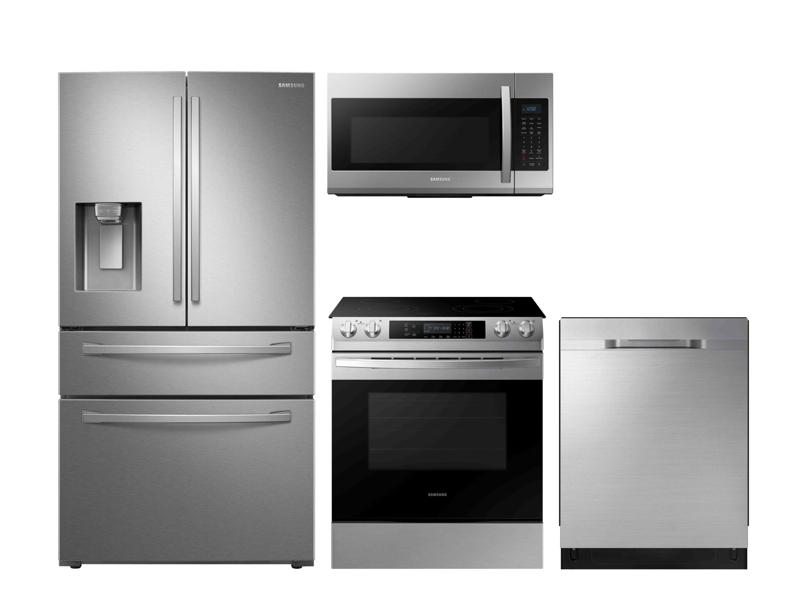 Modern built-in design with electric range