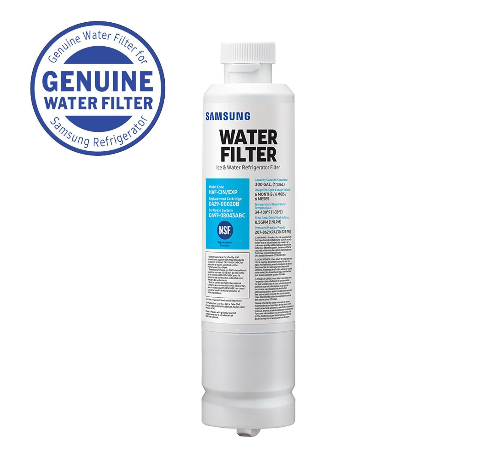 Samsung Refrigerator Water Filter Ice Purifier Drinking Safe Fresh Clean 2 Pack