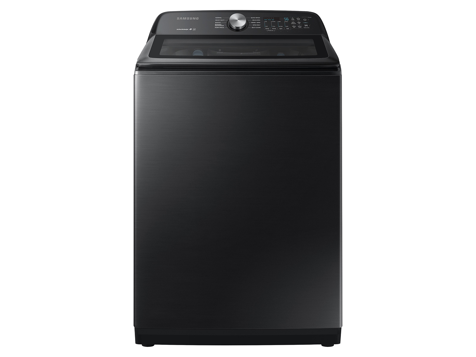 5.0 cu. ft. Capacity Top Load Washer with Active WaterJet in Brushed Black