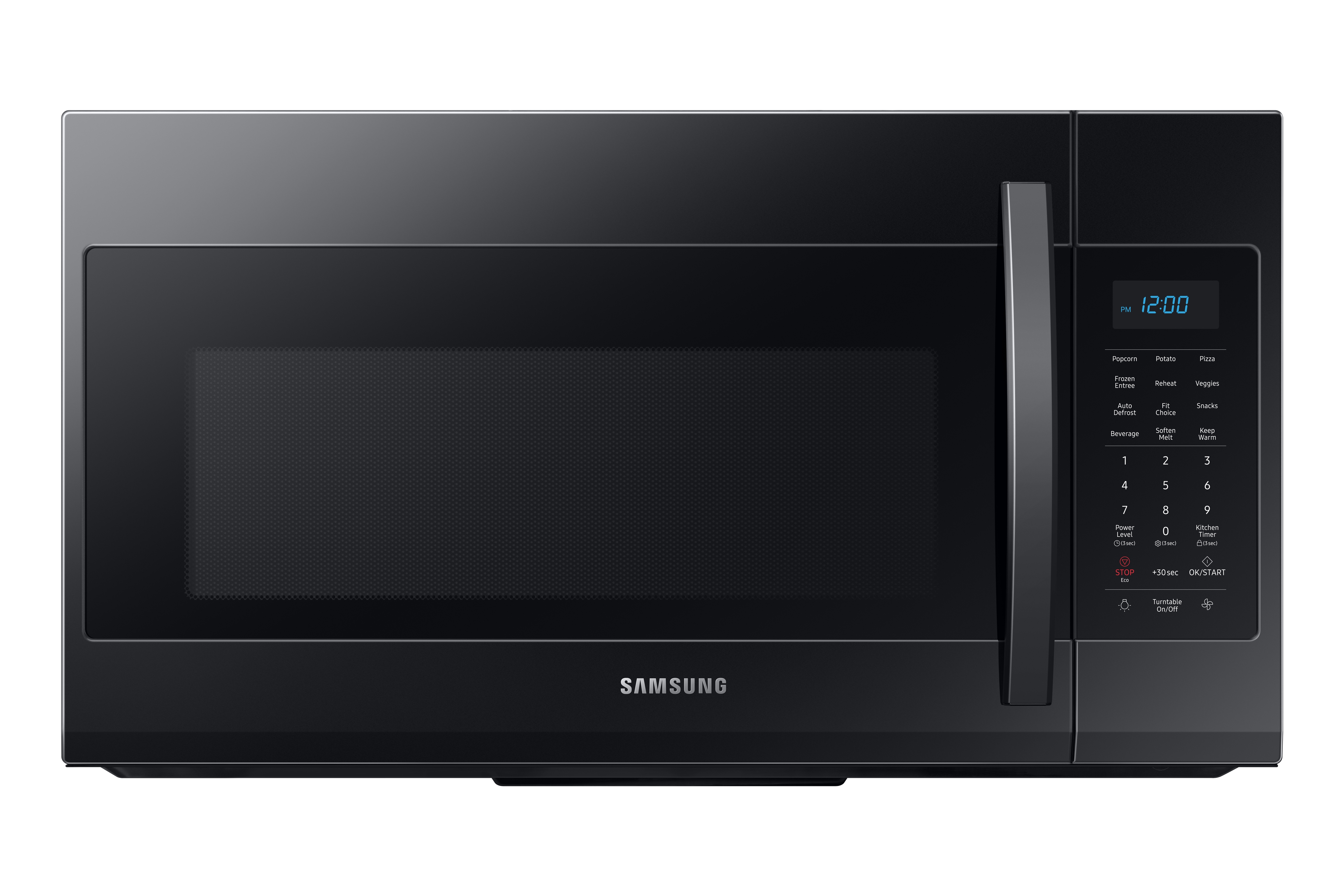 Samsung 1.9 cu ft Over The Range Microwave with Sensor Cooking in Black