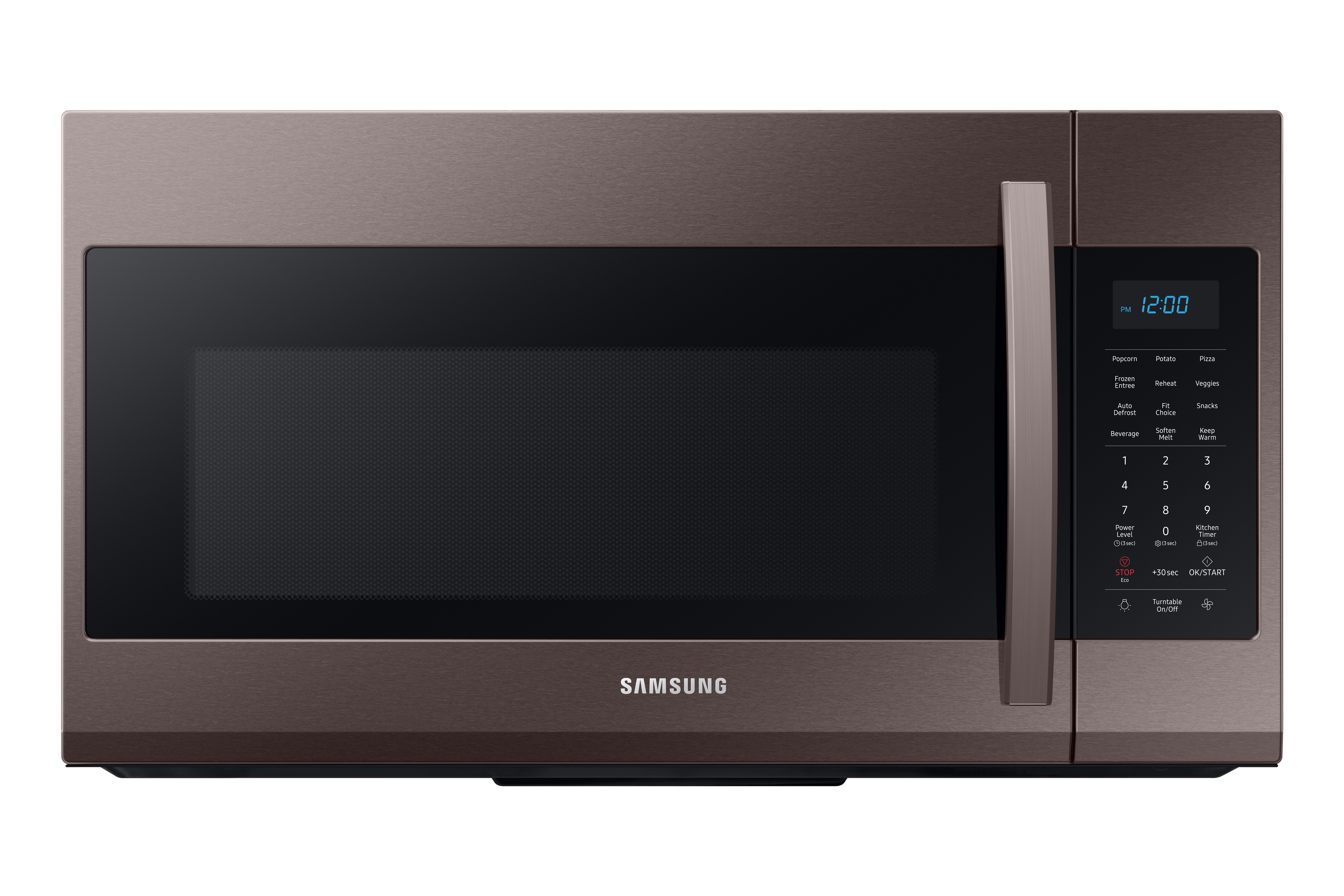 Samsung 1.9 cu ft Over The Range Microwave with Sensor Cooking in Fingerprint Resistant Tuscan Stainless Steel