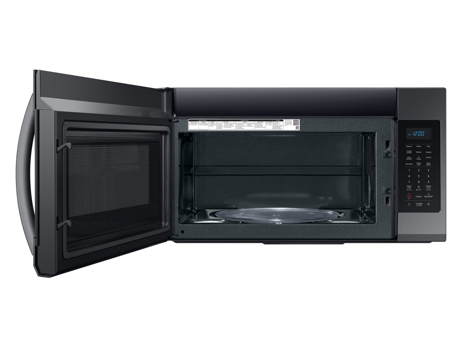 Thumbnail image of 1.9 cu ft Over The Range Microwave with Sensor Cooking in Black Stainless Steel