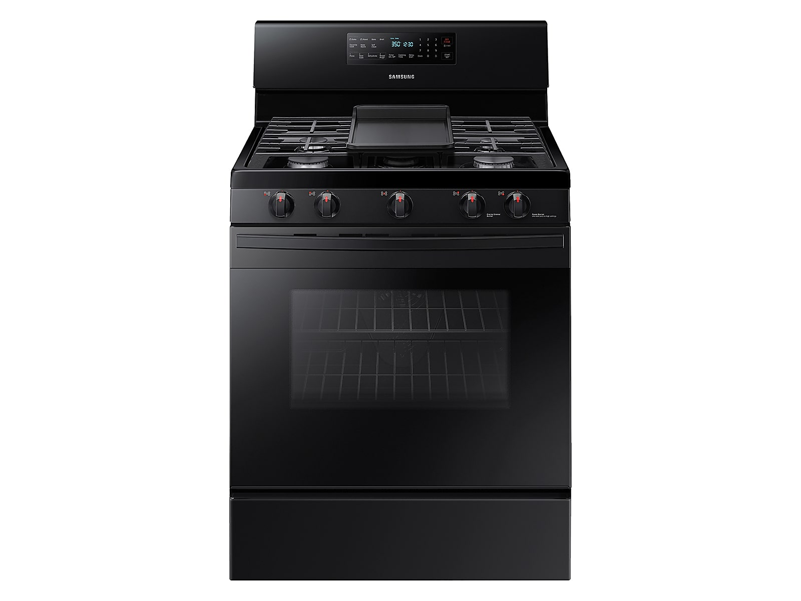 Samsung 5.8 cu. ft. Freestanding Gas Range with Convection in Black(NX58T5601SB/AA)