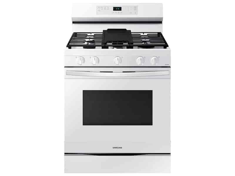 6.0 cu. ft. Smart Freestanding Gas Range with Integrated Griddle in White