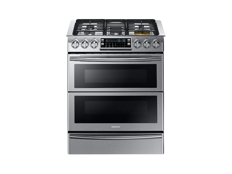 Slide In Dual Fuel Range With Flex Duo And Door Ranges Ny58j9850ws Aa Samsung Us