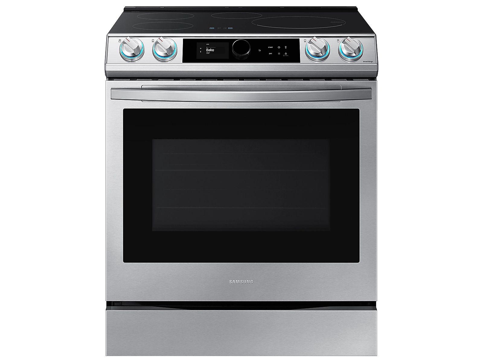 Samsung 6.3 cu. ft. Smart Slide-induction Range with Smart Dial & Air Fry in Silver(NE63T8911SS/AA)