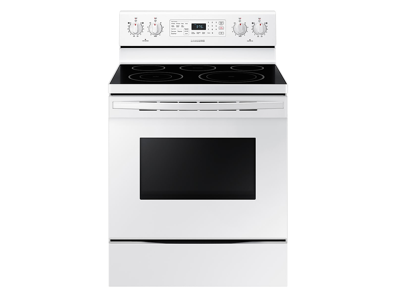 Samsung 5.9 cu. ft. Freestanding Electric Range with Convection in White(NE59T4321SW/AA)