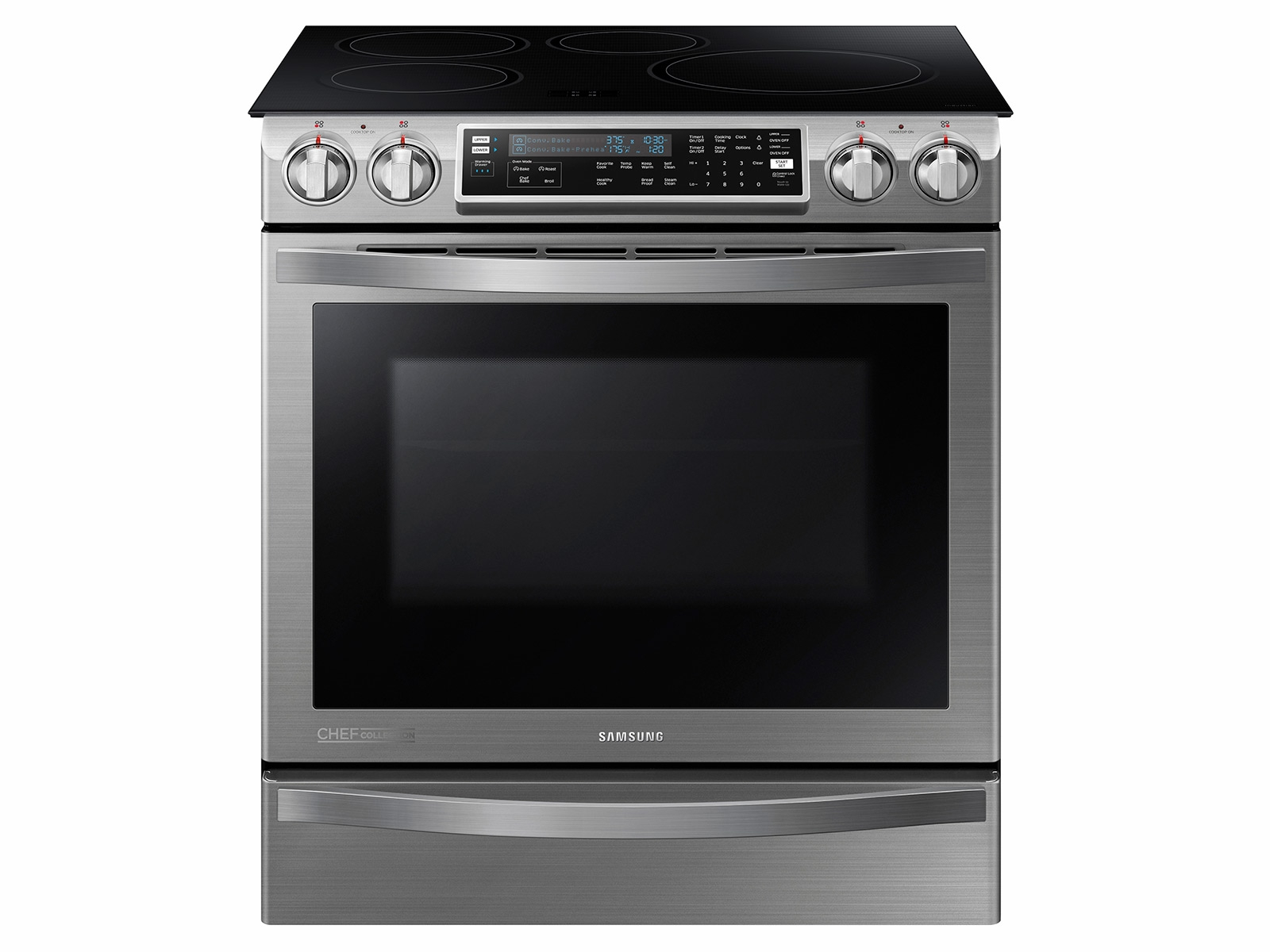 Slide-In Induction Chef Collection Range with Flex Duo™ Oven Ranges -  NE58H9970WS/AA | Samsung US