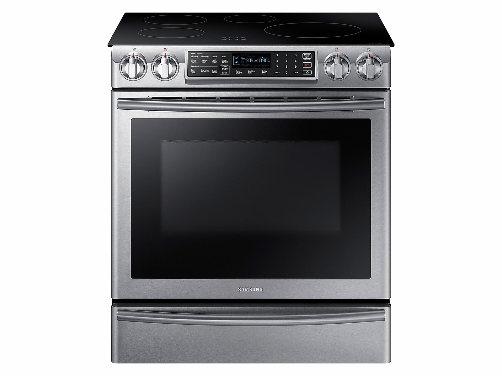 Samsung 5.8 cu ft. Smart Slide-induction Range with Virtual Flame™ in Stainless Steel(NE58K9560WS/AA)