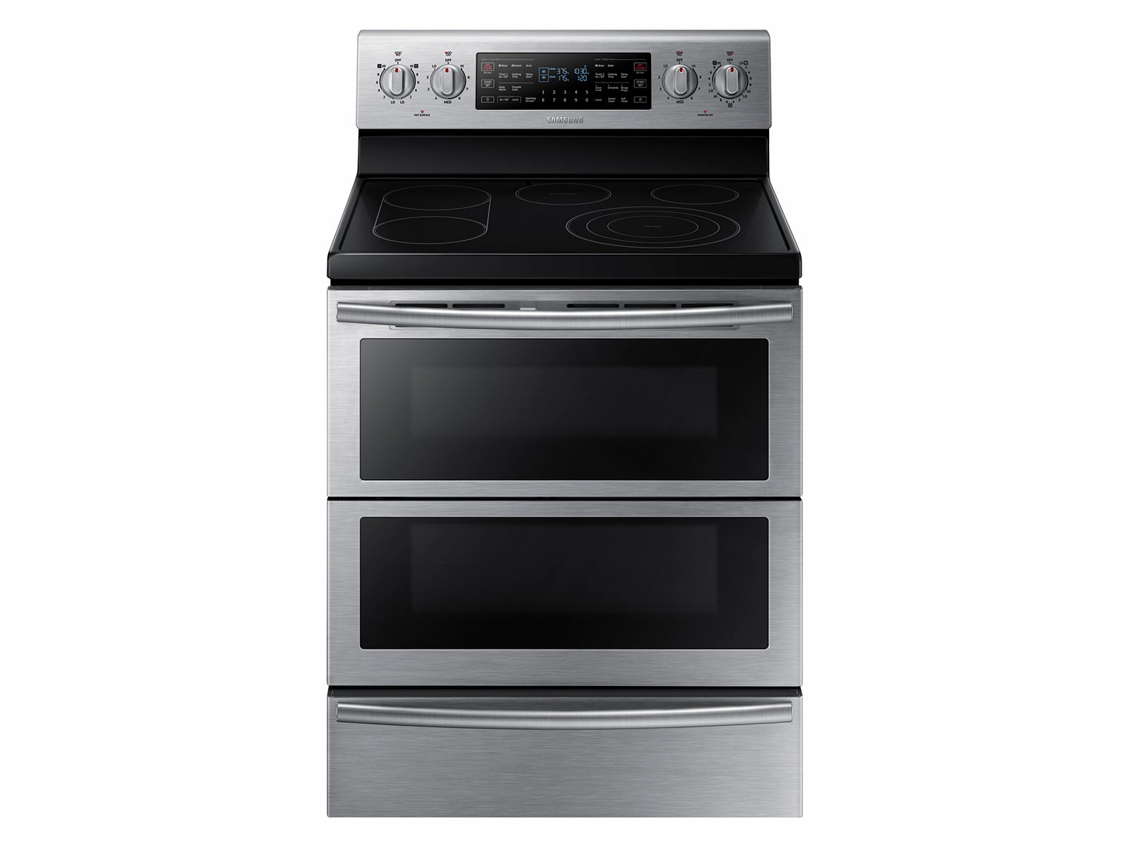 59 Cu Ft Electric Flex Duo Range With Soft Close And Dual Door Wiring Zones Kitchen Ranges Ne59j7850ws Aa Samsung Us