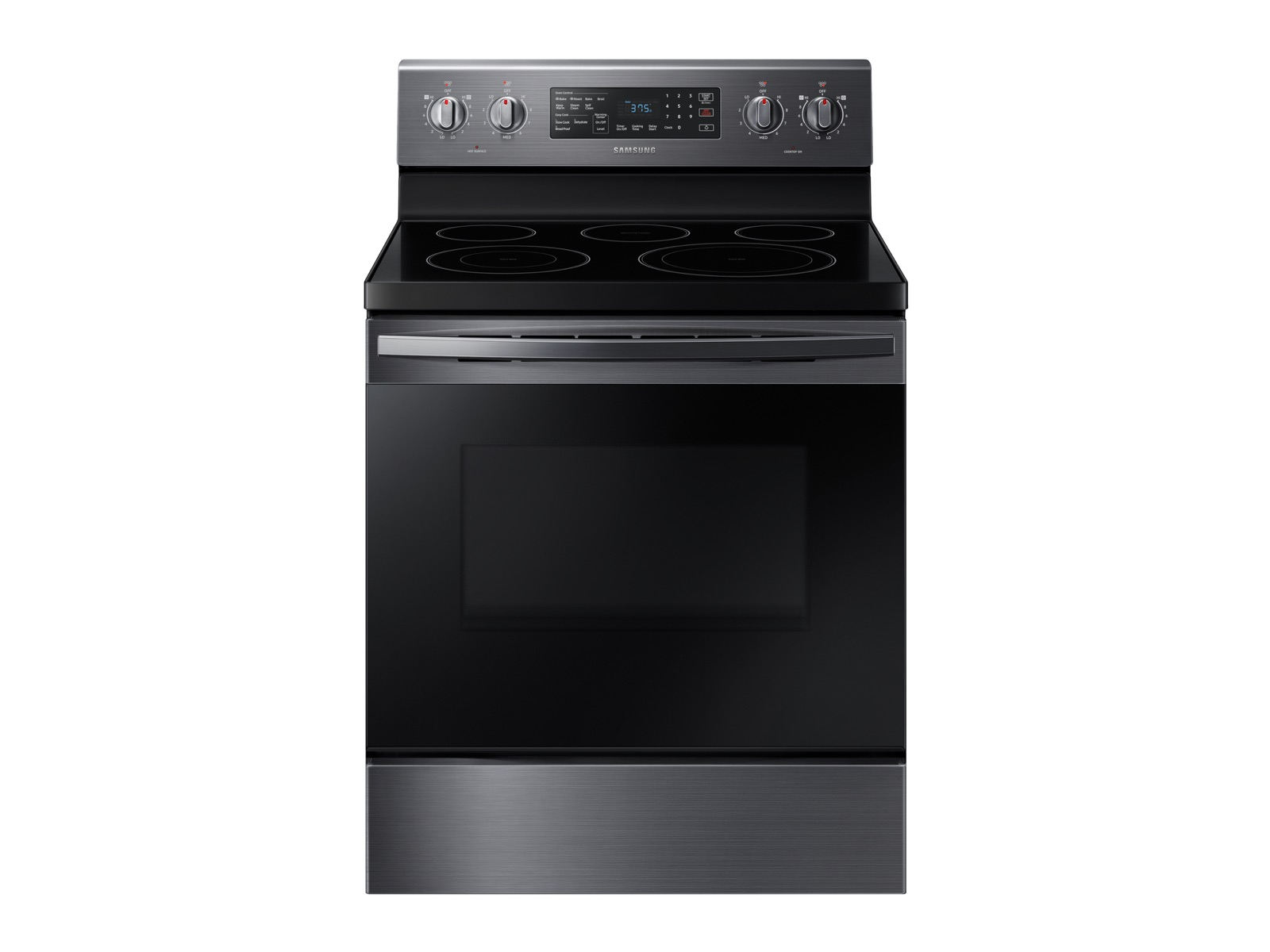Samsung 5.9 cu. ft. Freestanding Electric Range with Convection in Black Stainless Steel, Fingerprint Resistant Black Stainless Steel