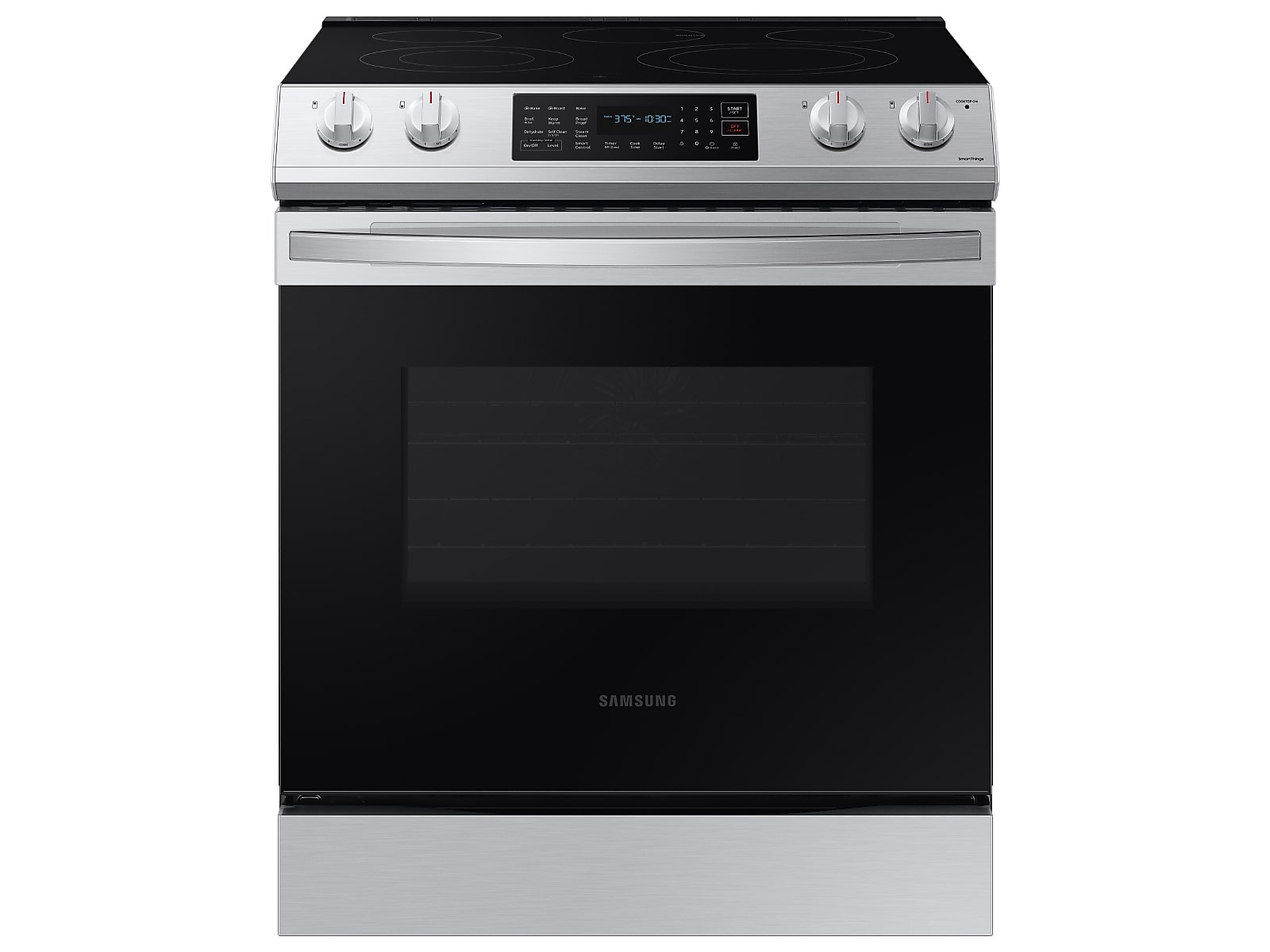 Samsung 6.3 cu ft. Smart Slide-in Electric Range with Convection in Silver(NE63T8311SS/AA)