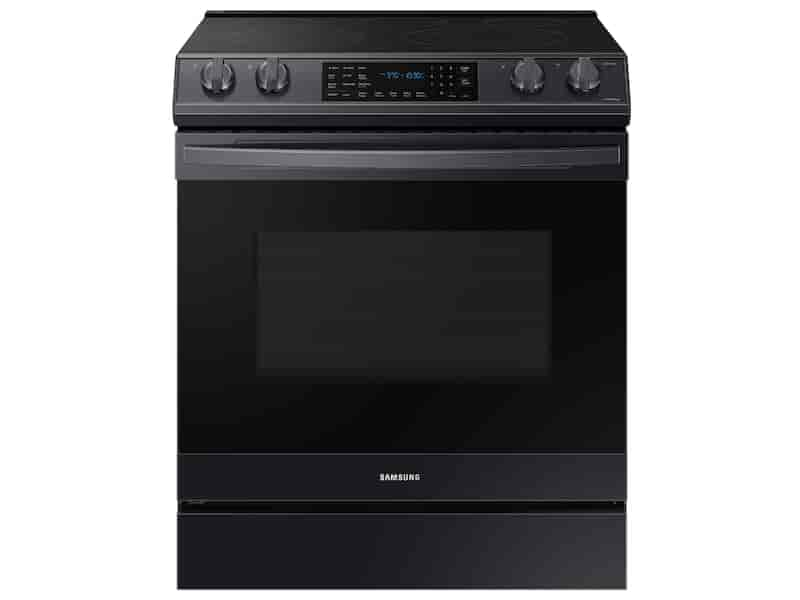 6.3 cu. ft. Smart Slide-in Electric Range with Air Fry in Black Stainless Steel