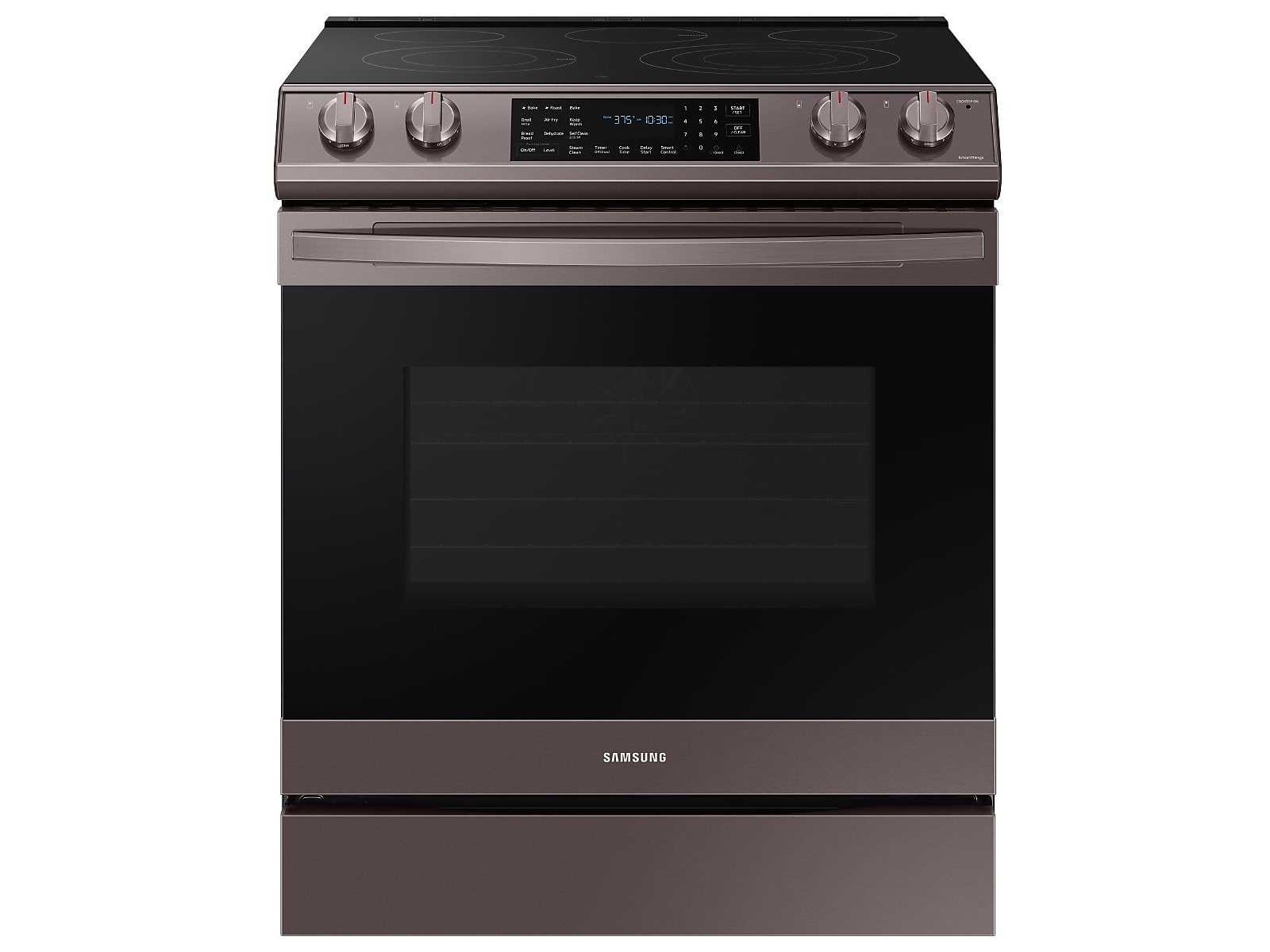 Samsung 6.3 cu. ft. Smart Slide-in Electric Range with Air Fry in Tuscan Stainless Steel(NE63T8511ST/AA)