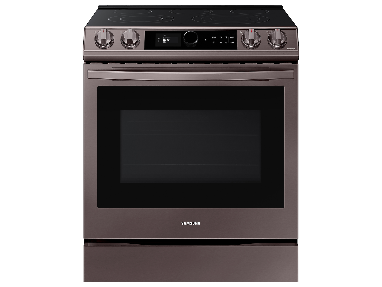 Samsung 6.3 cu ft. Smart Slide-in Electric Range with Smart Dial & Air Fry in Tuscan Stainless Steel(NE63T8711ST/AA)