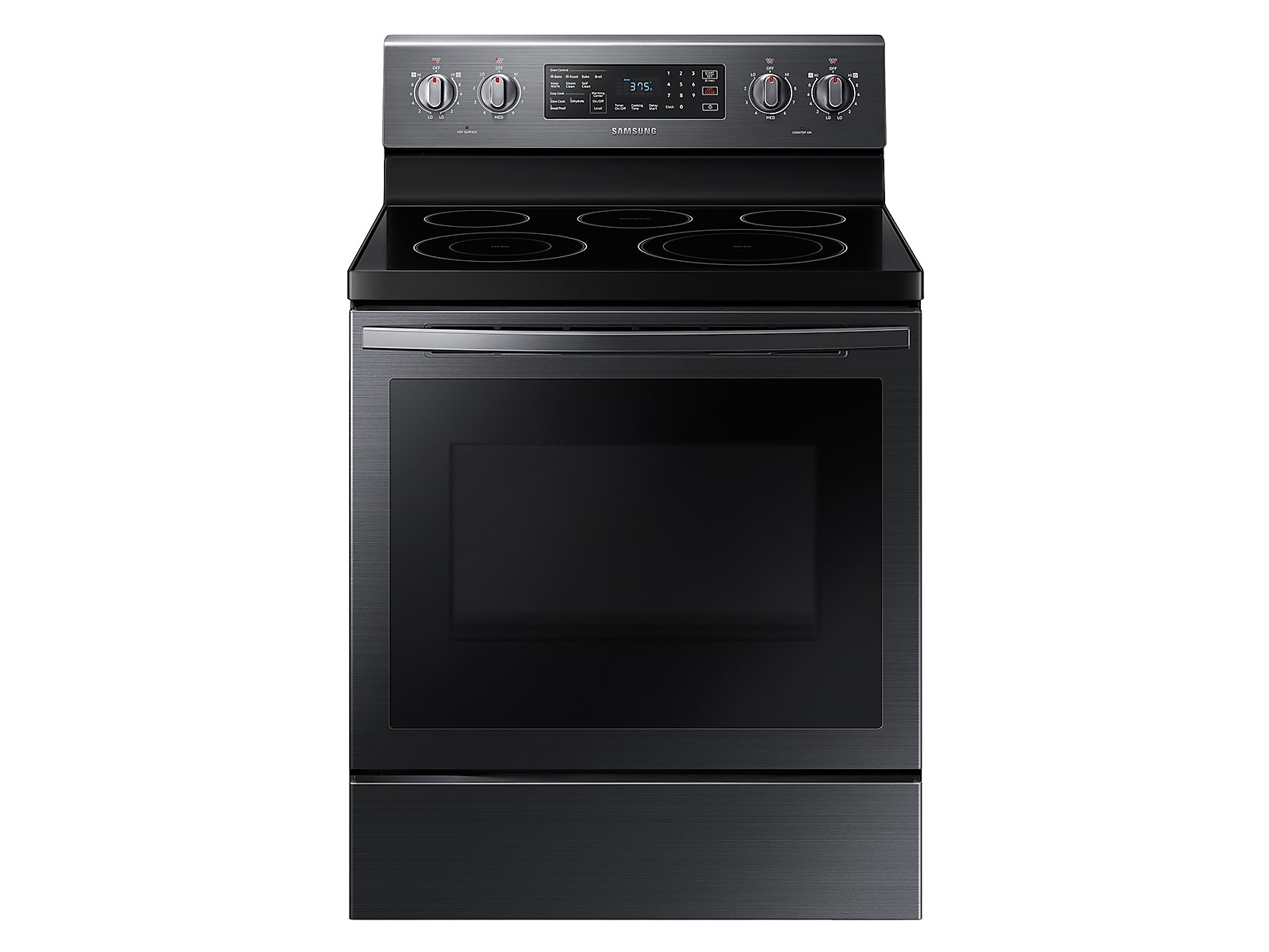 Samsung 5.9 cu. ft. Freestanding Electric Range with Air Fry and Convection in Black Stainless Steel(NE59T7511SG/AA)