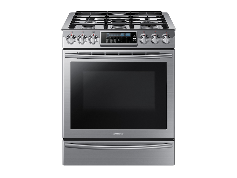 5 8 Cu Ft Slide In Gas Range With True Convection Ranges Nx58h9500ws Aa Samsung Us