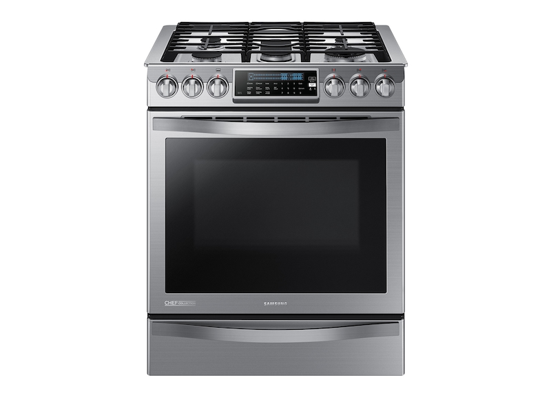 5.8 cu. ft. Slide-in Gas Chef Collection Range with True ...