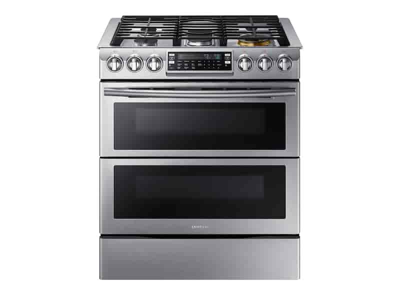 5.8 cu. ft. Slide-In Gas Range with Flex Duo™ & Dual Door in Stainless Steel