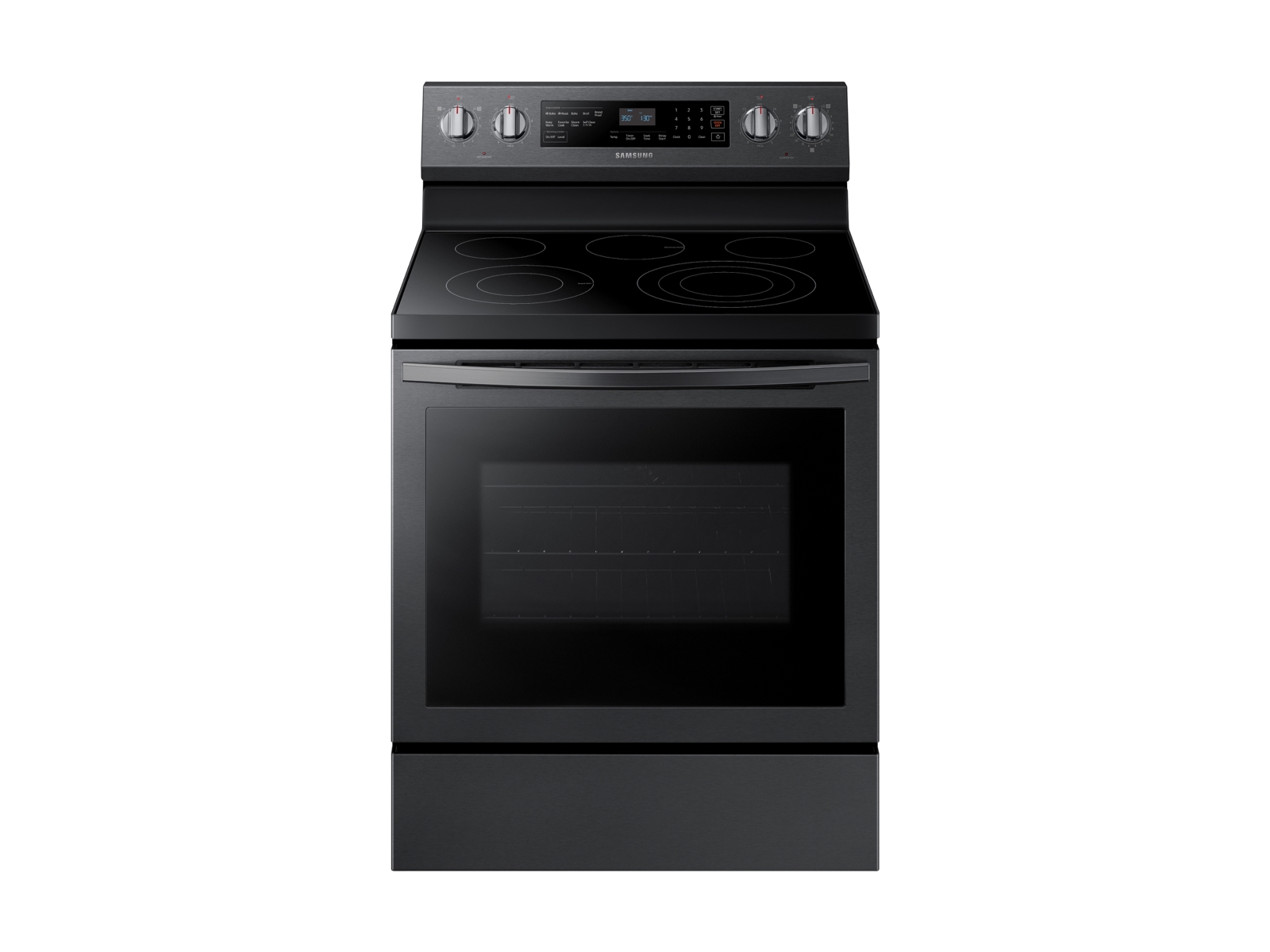 Samsung 5.9 cu. ft. Freestanding Electric Range with True Convection in Black Stainless Steel, Fingerprint Resistant Black Stainless Steel