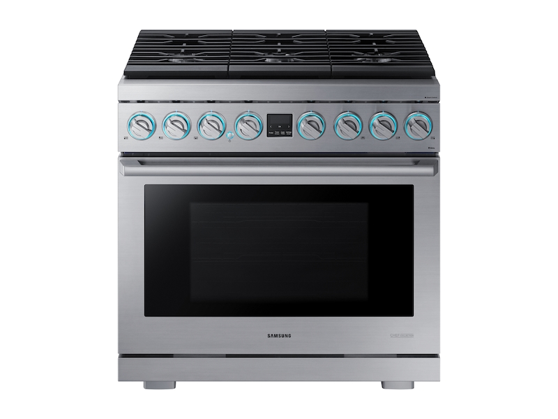 36 Inch Gas Range In Stainless Steel Nx36r9966ps Samsung Us