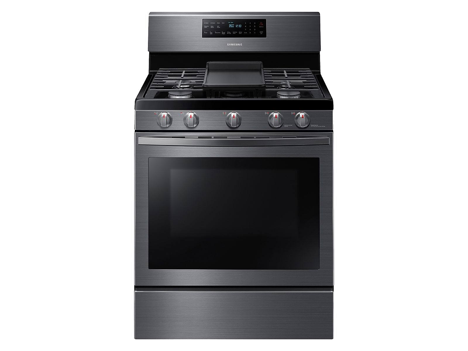 Samsung 5.8 cu. ft. Freestanding Gas Range with Convection in Black Stainless Steel(NX58R5601SG/AA)