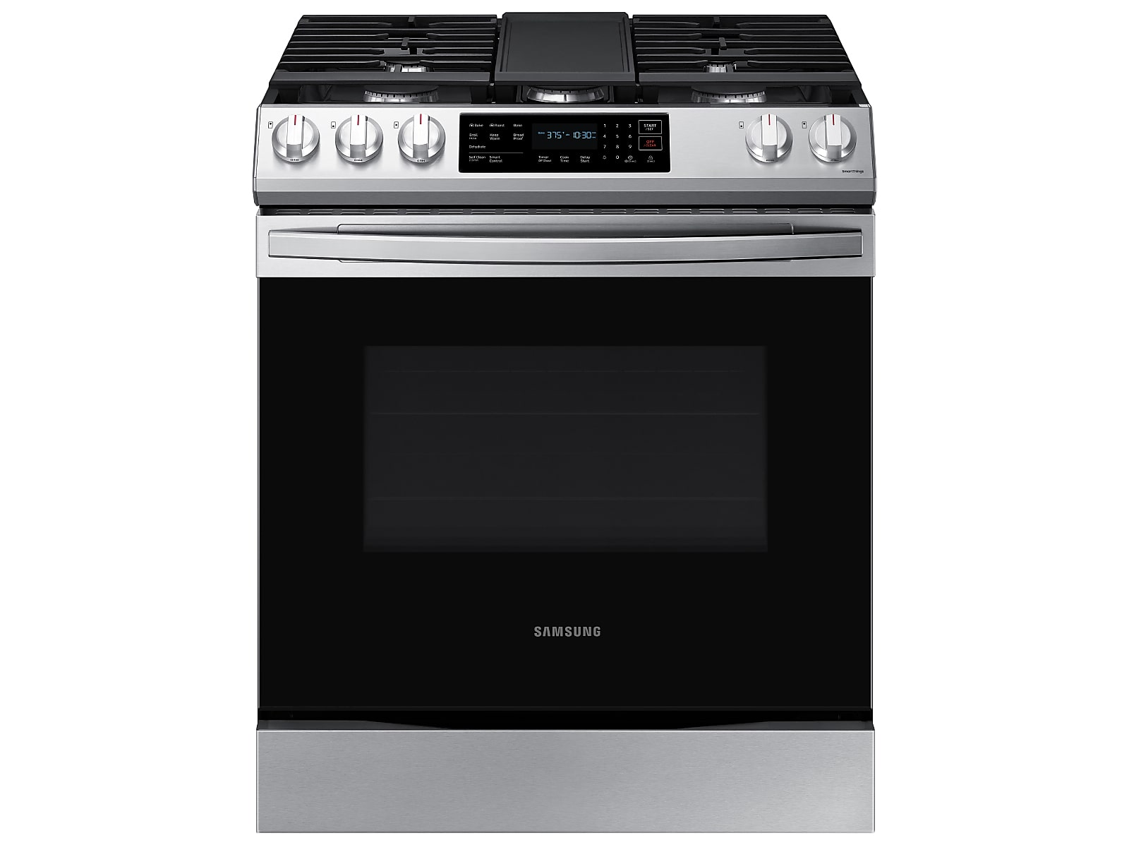 Samsung 6.0 cu. ft. Smart Slide-in Gas Range with Convection in Silver(NX60T8311SS/AA)