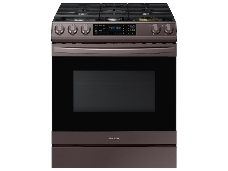 Samsung 6.0 cu. ft. Front Control Slide-in Gas Range - Tuscan Stainless Steel