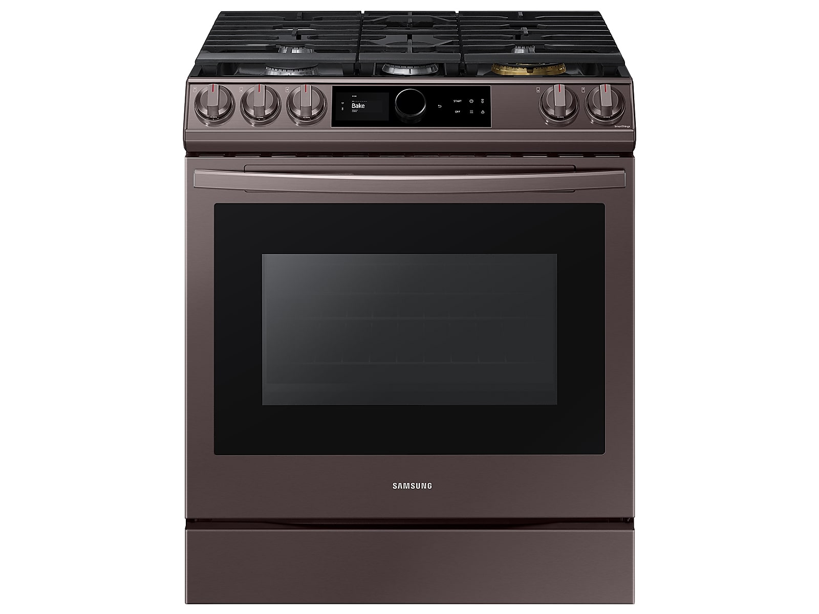 Samsung 6.0 cu ft. Smart Slide-in Gas Range with Smart Dial & Air Fry in Tuscan Stainless Steel(NX60T8711ST/AA)