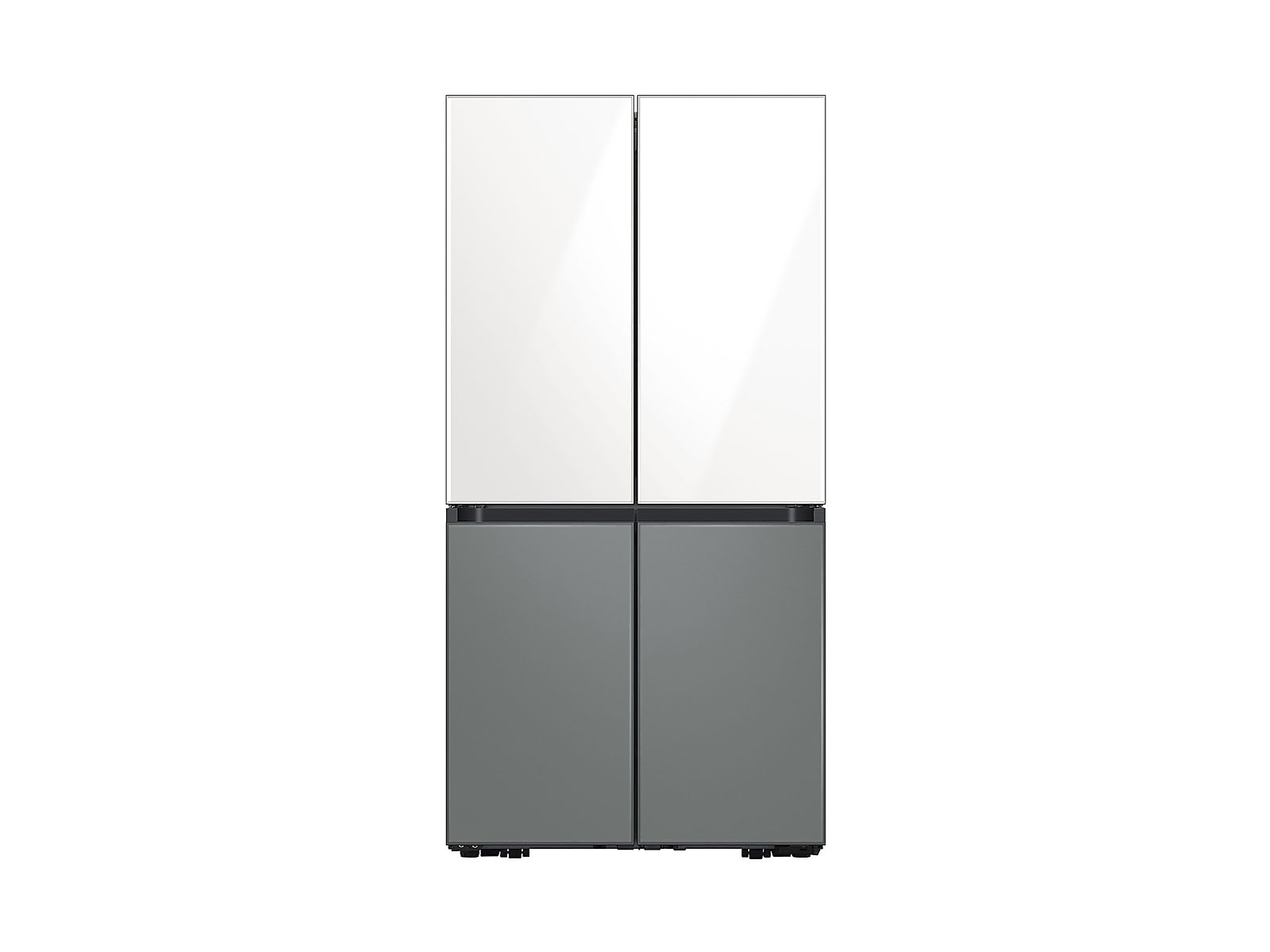 Samsung coupon: Samsung 29 cu. ft. Smart BESPOKE 4-Door Flex Refrigerator with Customizable Panel Colors in White Glass Top & Grey Glass Bottom(BNDL-1620768726678)