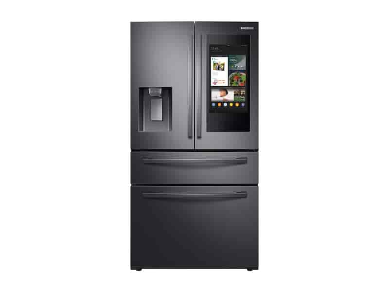 """22 cu. ft. 4-Door French Door, Counter Depth Refrigerator with 21.5"""" Touch Screen Family Hub™ in Black Stainless Steel"""