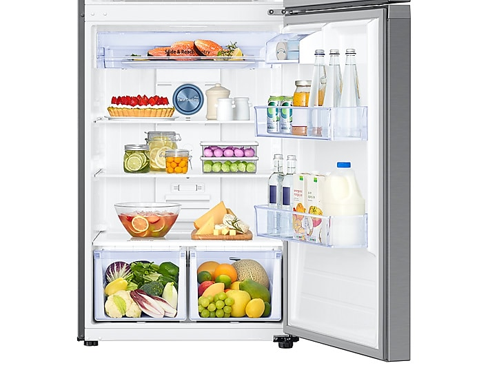 Pleasant 18 Cu Ft Capacity Top Freezer Refrigerator With Flexzone And Automatic Ice Maker Interior Design Ideas Gentotryabchikinfo