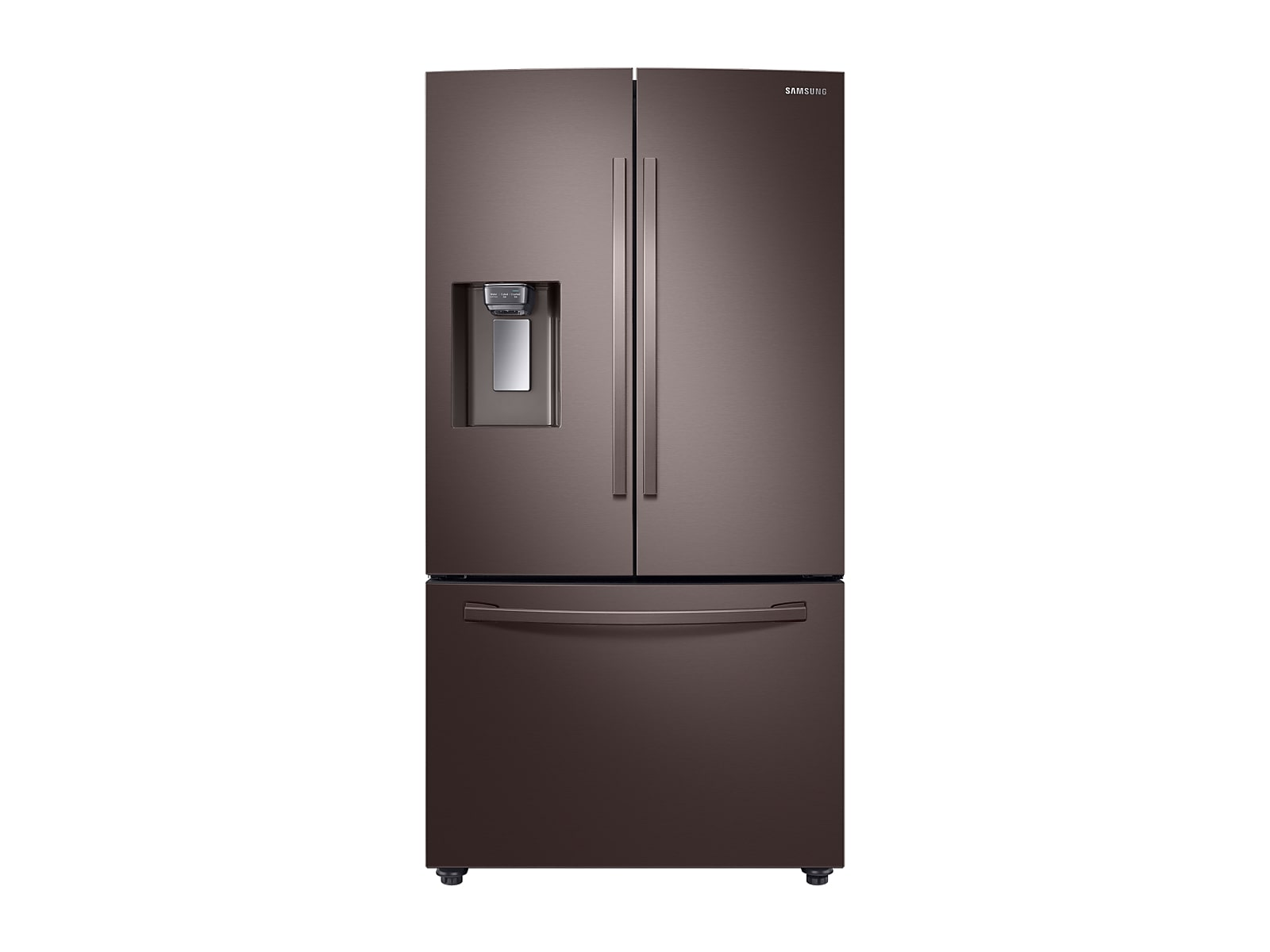 Samsung 23 cu. ft. Counter Depth 3-Door French Door Refrigerator with CoolSelect Pantry™ in Tuscan Stainless Steel(RF23R6201DT/AA)