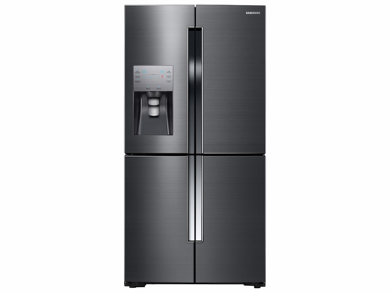 Best Counter Depth Refrigerator 2015 >> 23 Cu Ft Counter Depth 4 Door Flex Refrigerator With Flexzone In Black Stainless Steel