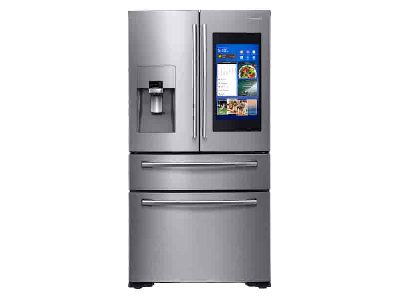 22 cu. ft. Counter Depth 4-Door French Door with 21.5 in. Connected Touch Screen Family Hub™ Refrigerator