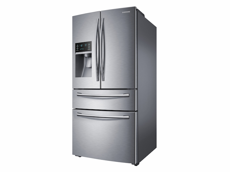 28 cu  ft  4-Door French Refrigerator with Stainless Steel