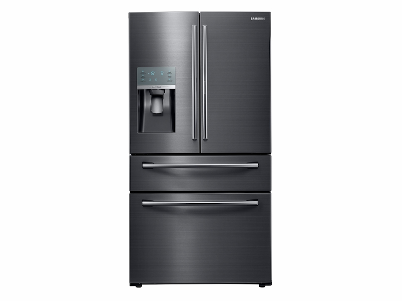 28 Cu Ft Food Showcase 4 Door French Door Refrigerator In Black Stainless Steel Refrigerator Rf28jbedbsg Aa Samsung Us