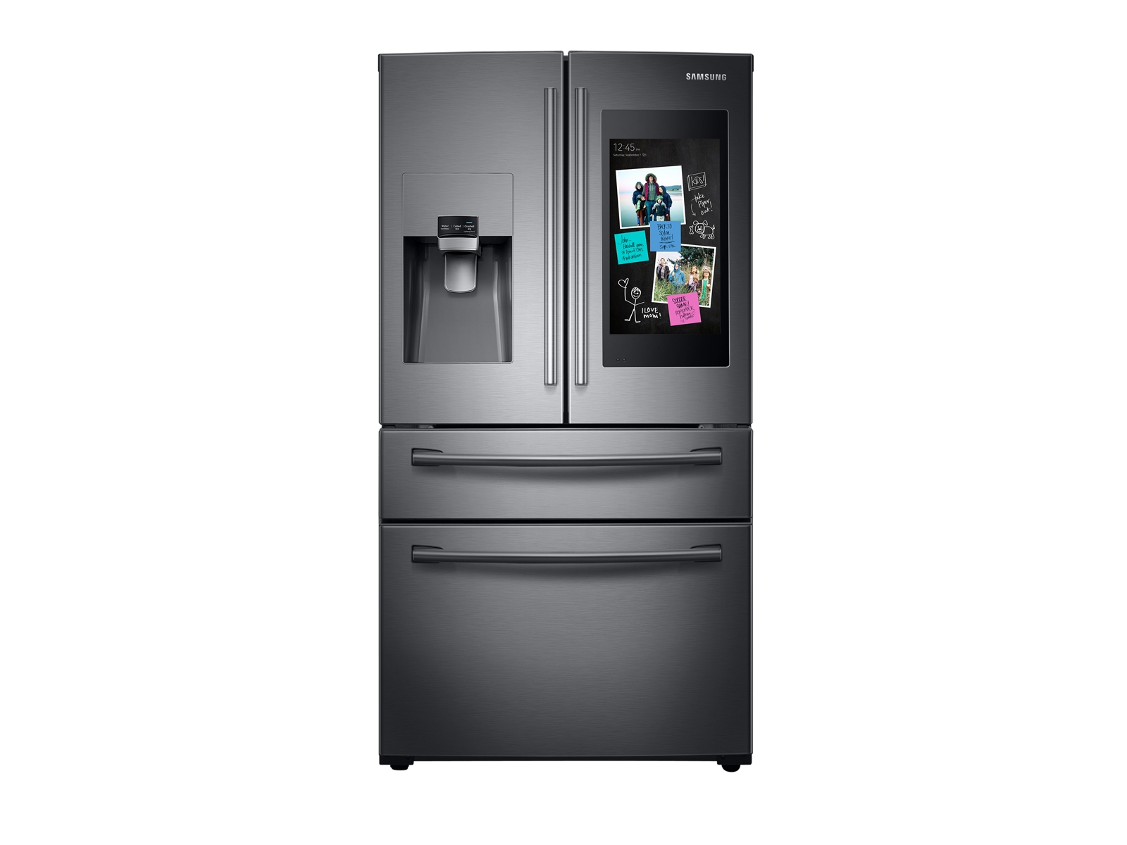 28 cu. ft. Family Hub 4-Door French Door Refrigerator in Black Stainless Steel