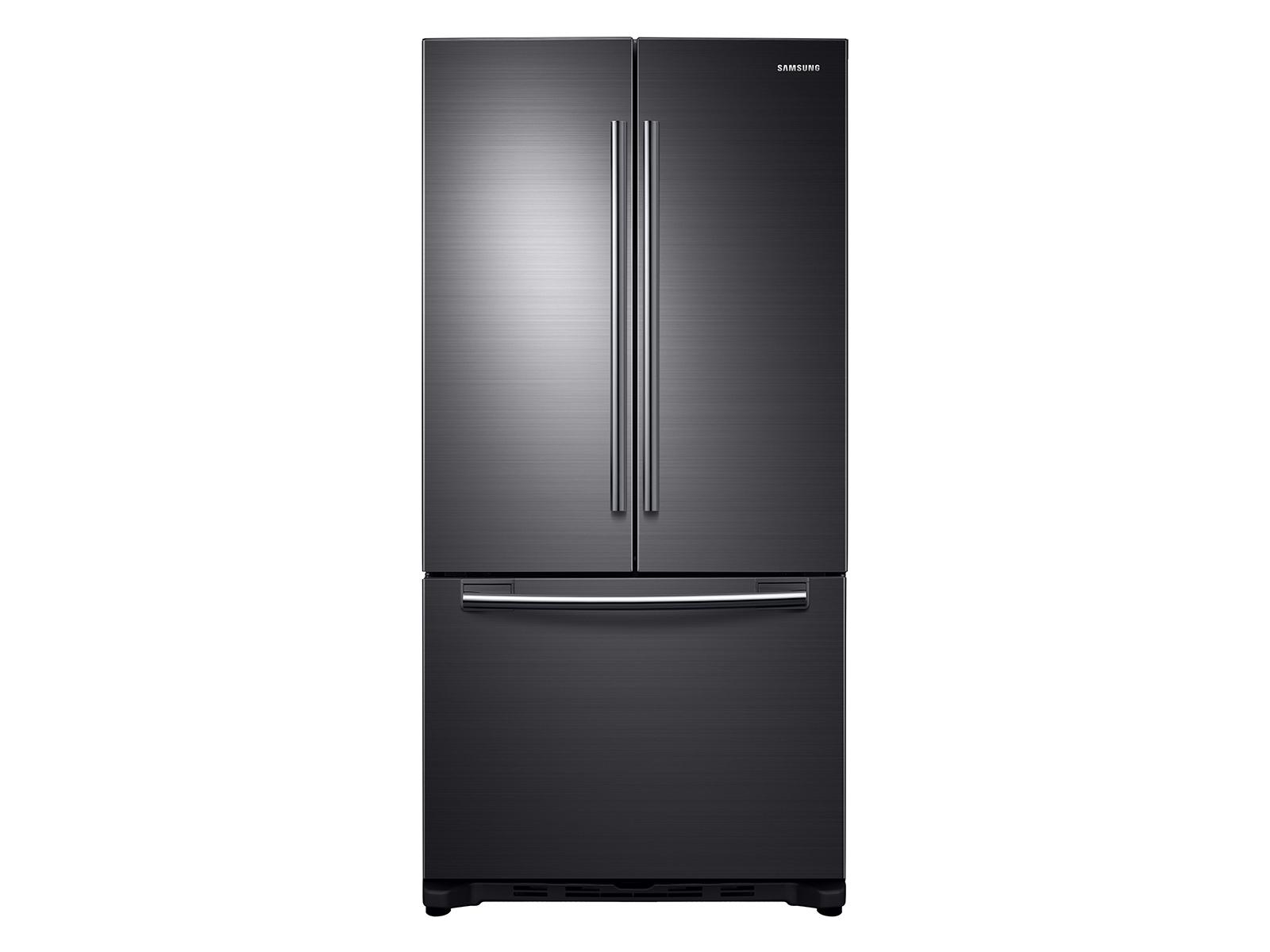 Samsung 18 cu. ft. Counter Depth French Door Refrigerator in Black Stainless Steel, Fingerprint Resistant Black Stainless Steel