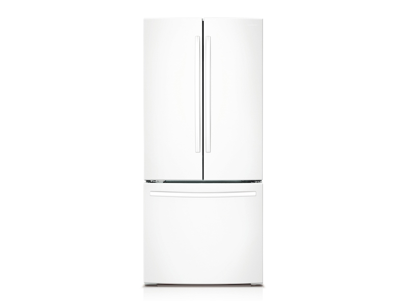 22 Cu Ft French Door Refrigerator In White Refrigerator Rf220nctaww Aa Samsung Us
