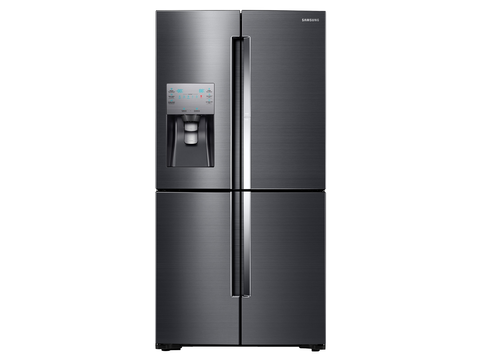 22 cu. ft.  Food Showcase Counter Depth 4-Door Flex Refrigerator with FlexZone in Black Stainless Steel