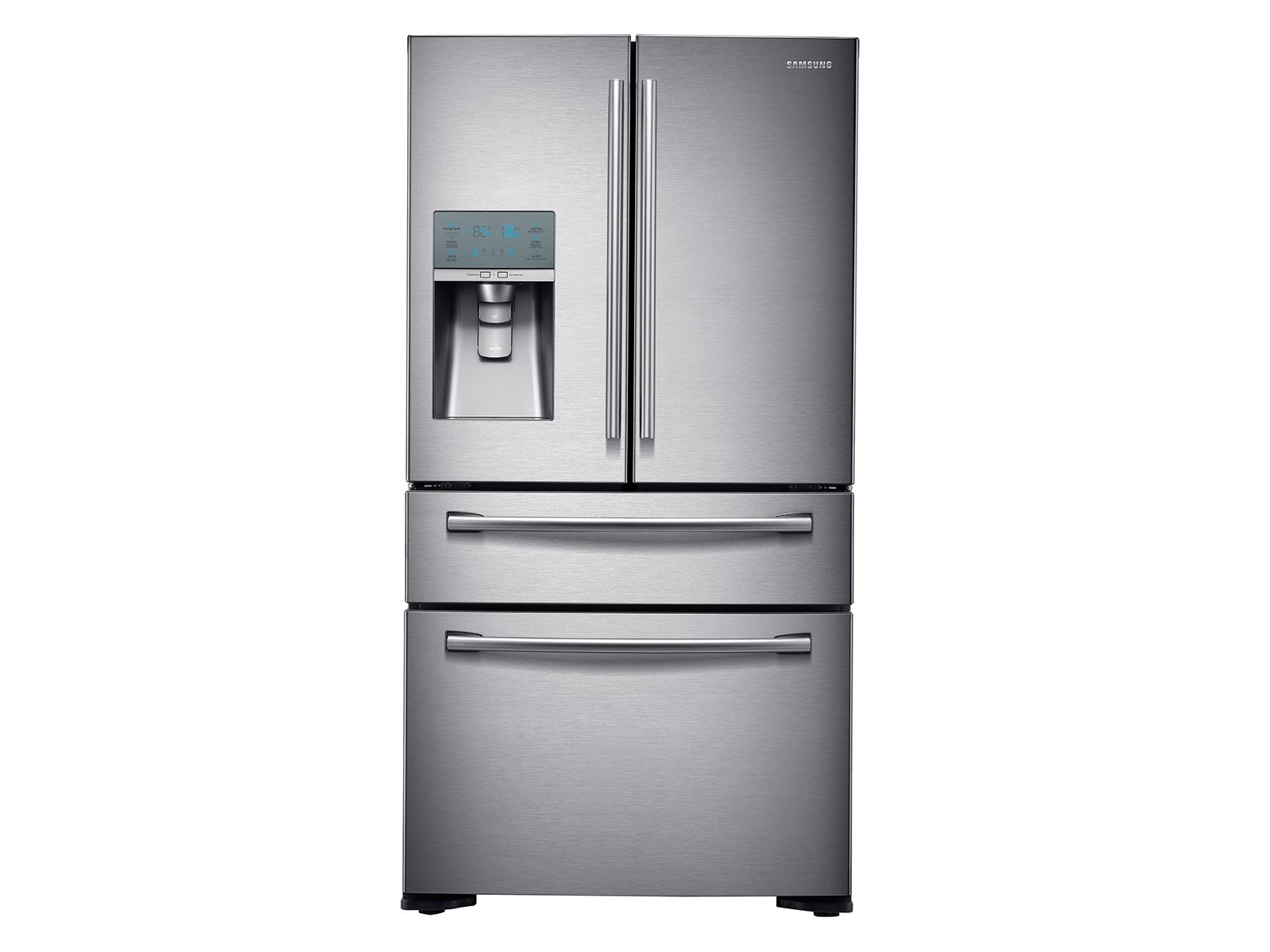 23 cu. ft. Counter Depth 4-Door Refrigerator with FlexZone Drawer in Stainless Steel