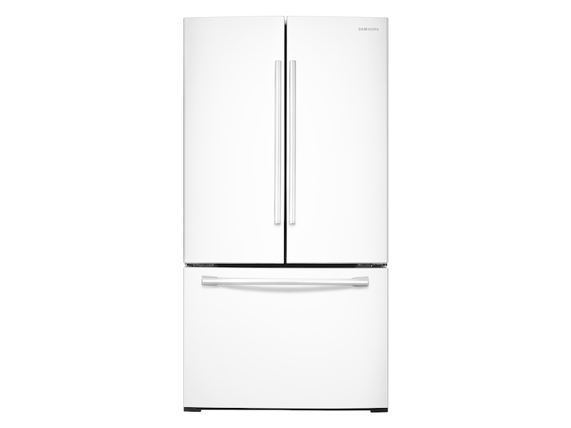 26 Cu Ft French Door Refrigerator With Twin Cooling Plus In White Refrigerator Rf26hfendww Aa Samsung Us