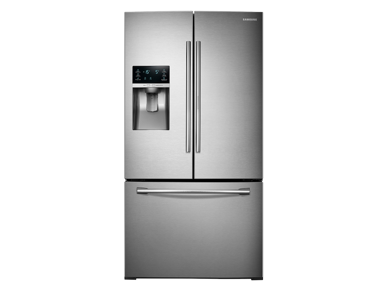 28 Cu Ft 3 Door French Food Showcase Refrigerator With Dual Ice Maker