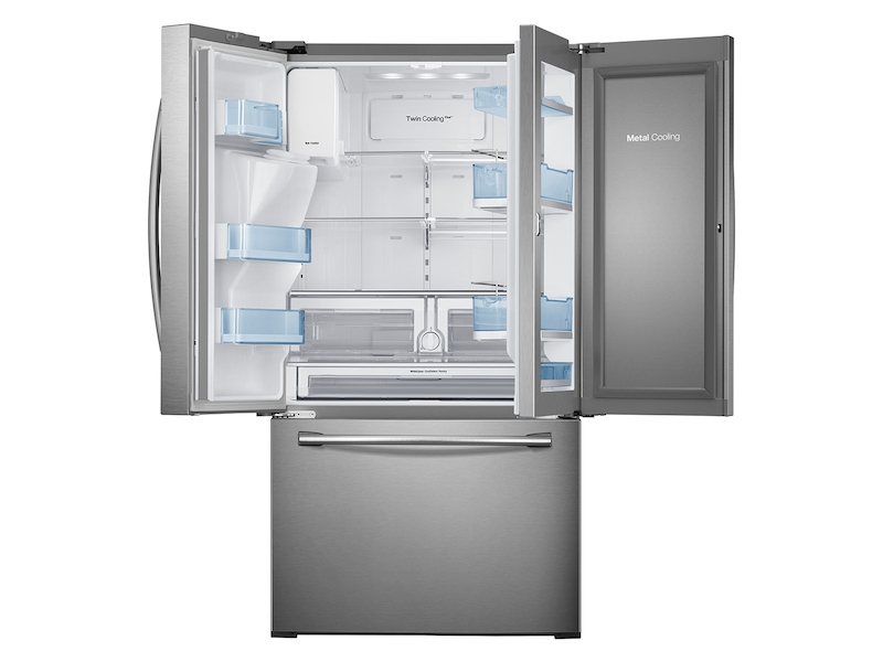 3 Door French Food Showcase Refrigerator With Dual Ice Maker Refrigerators Rf28hdedtsr Aa Samsung Us