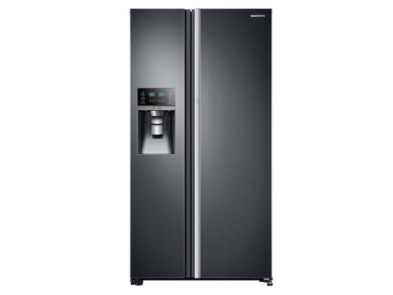 22 Cu Ft Food Showcase Counter Depth Side By Refrigerator With Metal Cooling In Black Stainless Steel