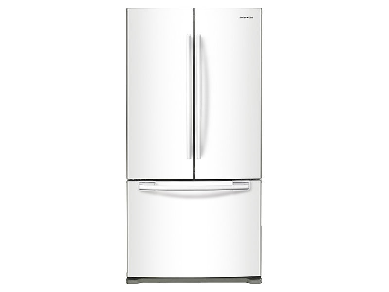 18 Cu Ft Counter Depth French Door Refrigerator In White