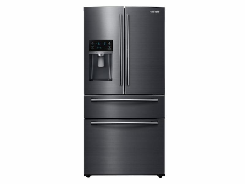 25 Cu Ft 4 Door French Refrigerator In Black Stainless Steel
